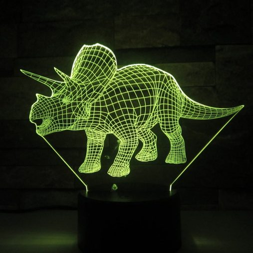 Triceratops 3D Illusion Led Lamp