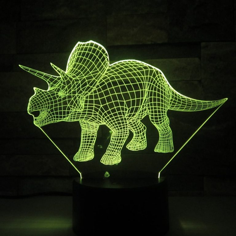 Triceratops 3D Illusion Led Lamp