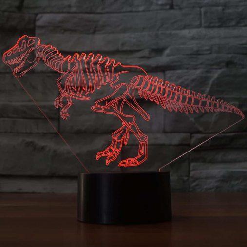 Dinosaur skeleton 3D Illusion Led Lamp