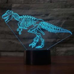 Dinosaur skeleton 3D Illusion Led Lamp