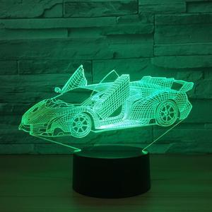 Lamborghini lighting 3D Illusion Led Lamp