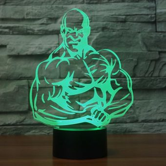 Bodybuilding 3D Illusion Led Lamp 2