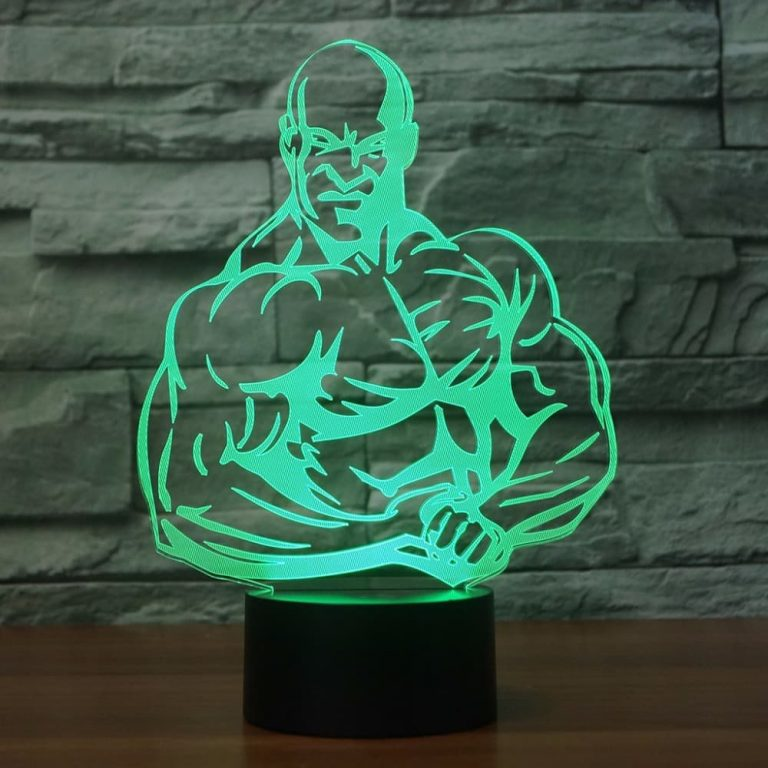 Bodybuilding 3D Illusion Led Lamp 2
