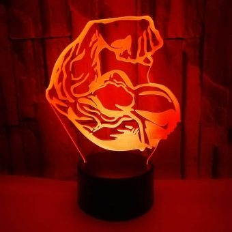 Bodybuilding 3D Illusion Led Lamp 7