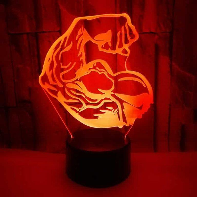 Bodybuilding 3D Illusion Led Lamp 7