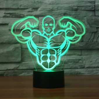 Bodybuilding 3D Illusion Led Lamp 6
