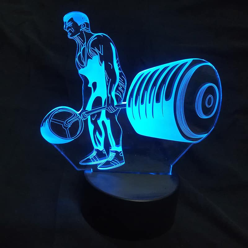 Bodybuilding 3D Illusion Led Lamp