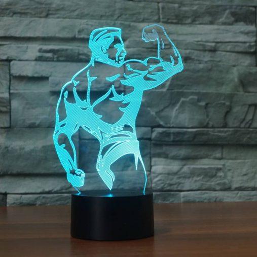 Bodybuilding 3D Illusion Led Lamp 3