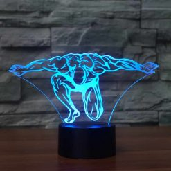 Bodybuilding 3D Illusion Led Lamp 5