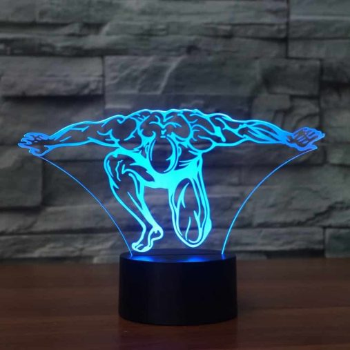 Bodybuilding 3D Illusion Led Lamp 5