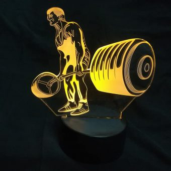 Bodybuilding 3D Illusion Led Lamp 4