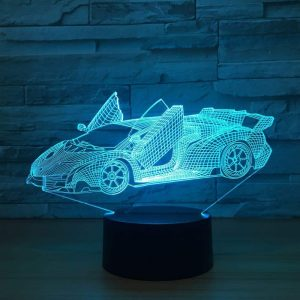 Lamborghini lighting 3D Illusion Led Lamp