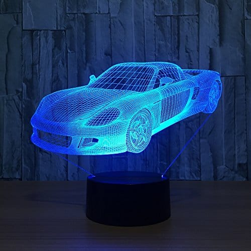 Porsche 3D Illusion Led Lamp