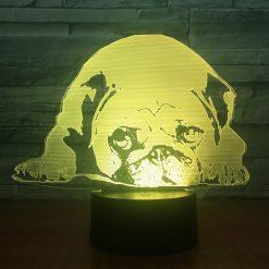 Pug 3D Illusion Led Lamp