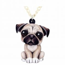 Acrylic Pug Necklace