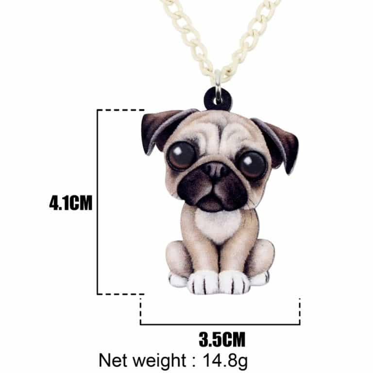 Acrylic Pug Necklace
