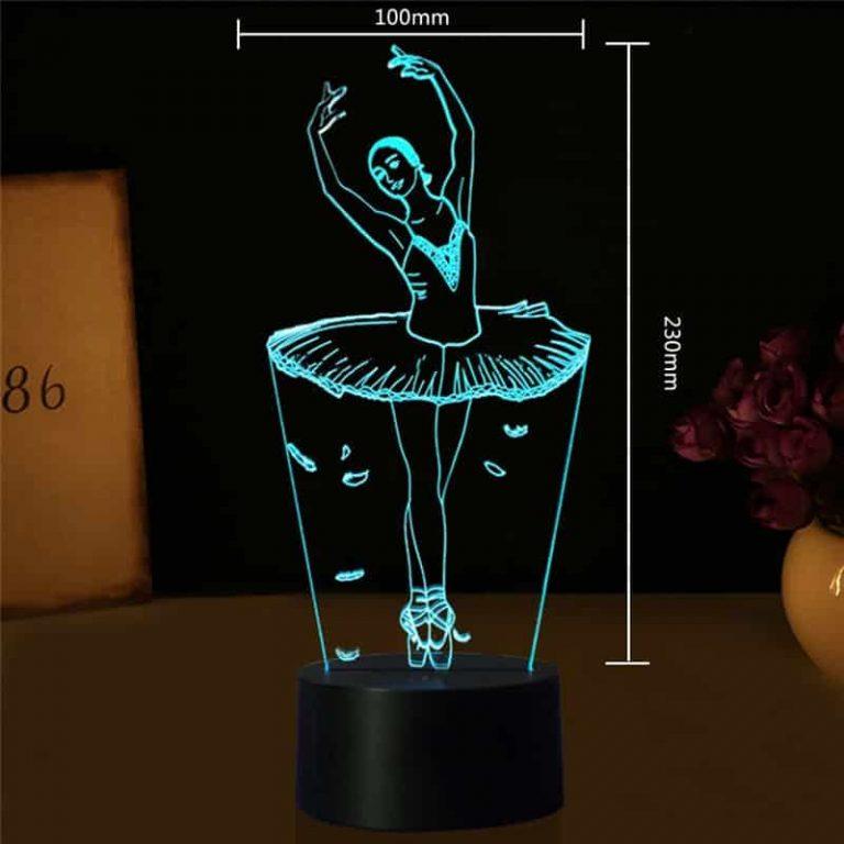 Ballerina 3D Illusion Led Lamp