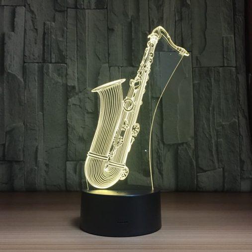 Saxophone 3D Illusion Led Lamp