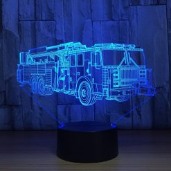 Fire Truck 3D Illusion Led Lamp