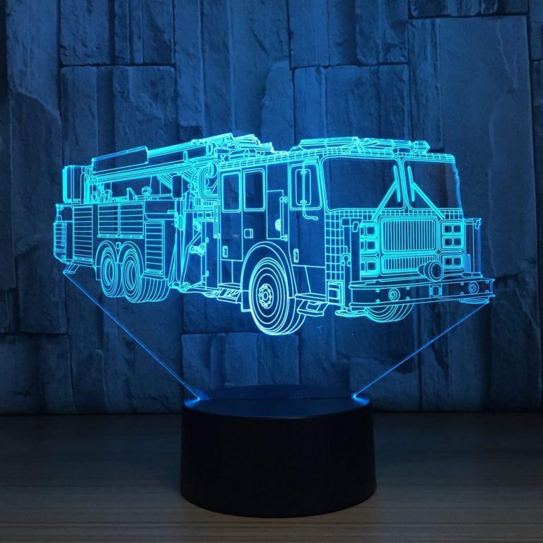 Fire Truck 3D Illusion Led Lamp