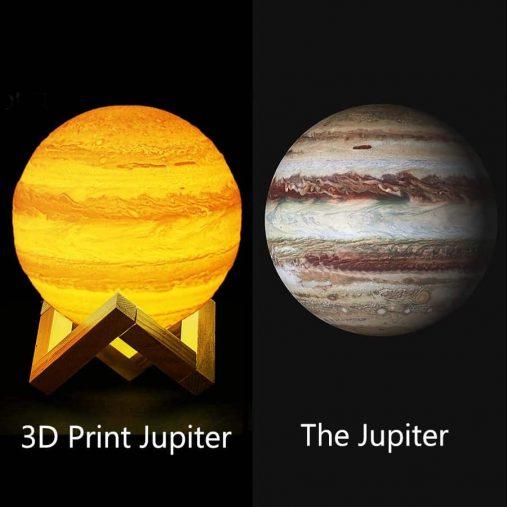 Jupiter Changing colors 3D Lamp