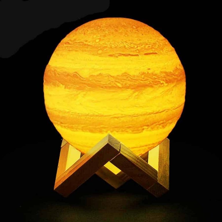 Jupiter Changing colors 3D Lamp