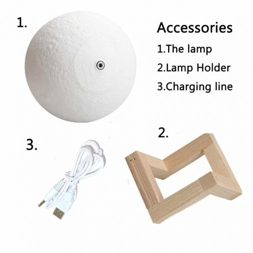 Moon Changing colors 3D Lamp