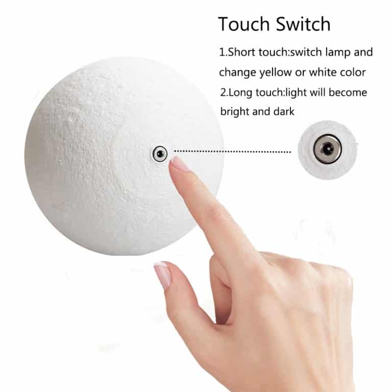 Changing colors 3D Moon Lamp
