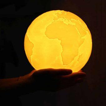 Erde ändernde Farben 3D Lampe