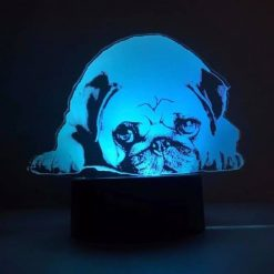 Pug 3D Illusion Led Lamp