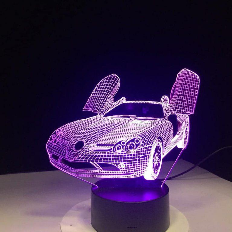 Mercedes SLR 3D Illusion Led Lamp