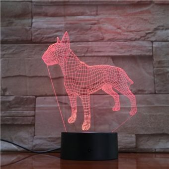 Bull Terrier 3D Illusion Led Lamp