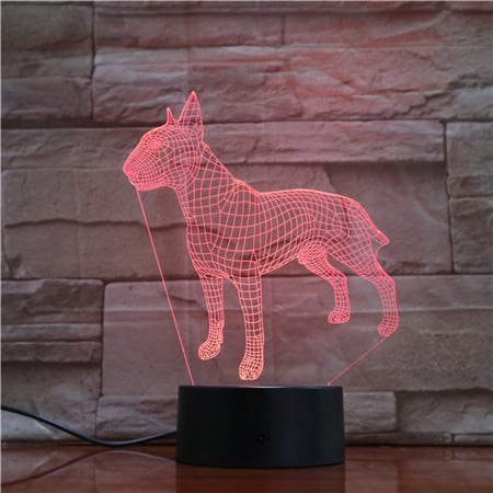 Bull Terrier 3D Illusion Led Lamp