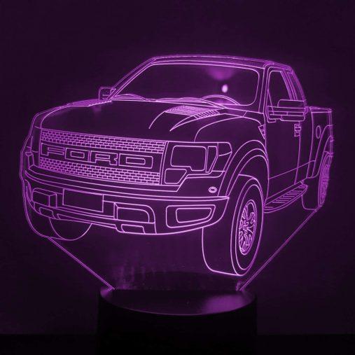 Ford F-150 Raptor 3D Illusion Led Lamp