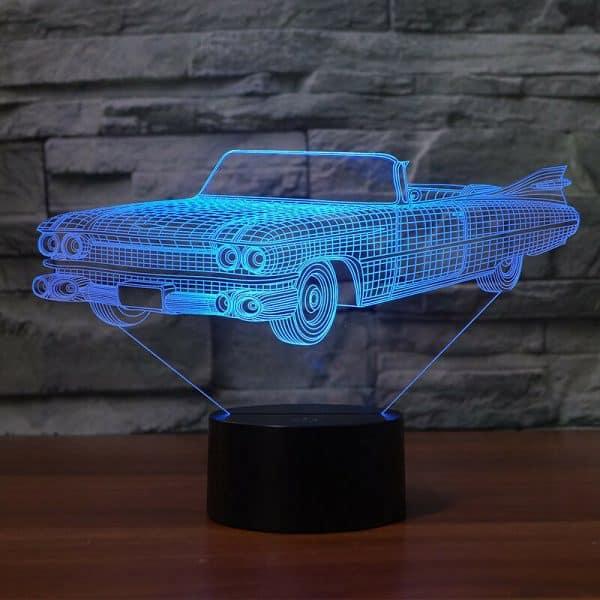 1959 Cadillac Eldorado Biarritz 3D Illusion Led Lamp