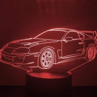 Nyali ya Toyota Supra 3D Illusion Led Lamp