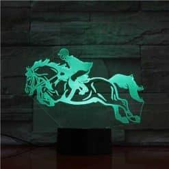 Horse Riding 3D Illusion Led Lamp