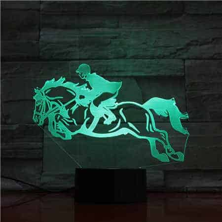 Horse Riding 3D Illusion Led Lamp