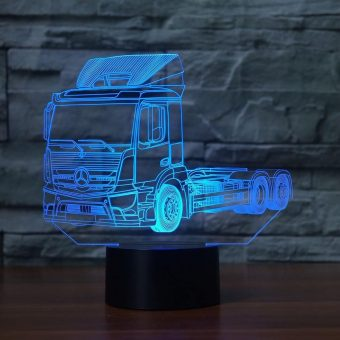 Mercedes Truck 3D Illusion Led Lampe