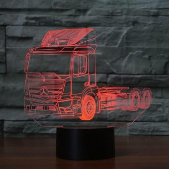 Mercedes Truck 3D Illusion Led Lamp