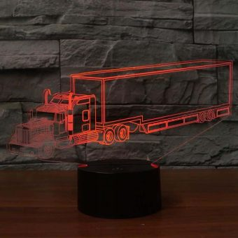 Kenworth Trailer Truck 3D Illusion LED-Lampe