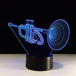 Trumpet 3D Illusion Led Lamp