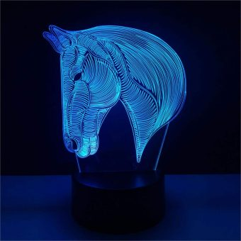 Horse Head 3D Illusion Lamp