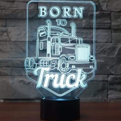 Born to Truck 3D Illusion Led Lamp