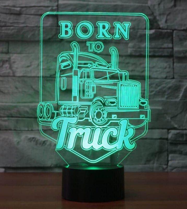 Born to Truck 3D Illusion Led Lamp