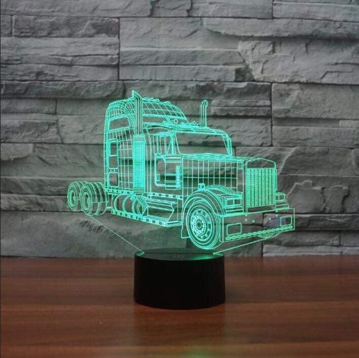 Kenworth W900 Truck 3D Illusion Led Lamp