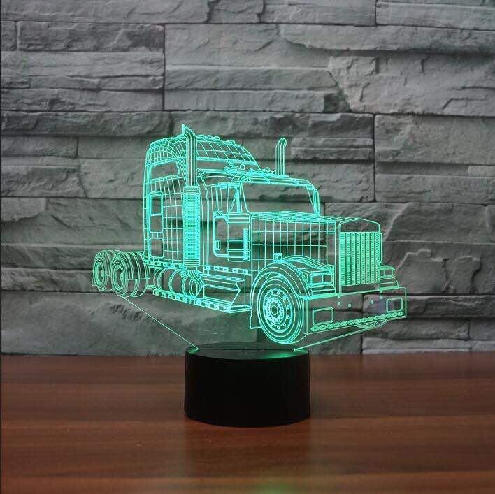 Kenworth W900 Truck 3D Illusion Led Lamp
