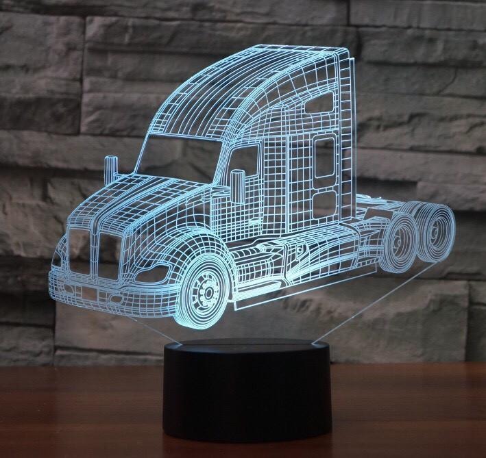 Kenworth Truck 3D Illusion Led Lamp