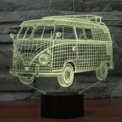 VW Bus 3D Illusion Led Lamp