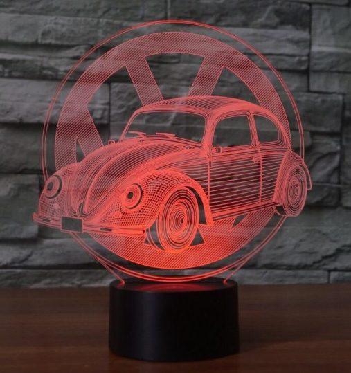 VW Beetle 3D Illusion Led Lamp